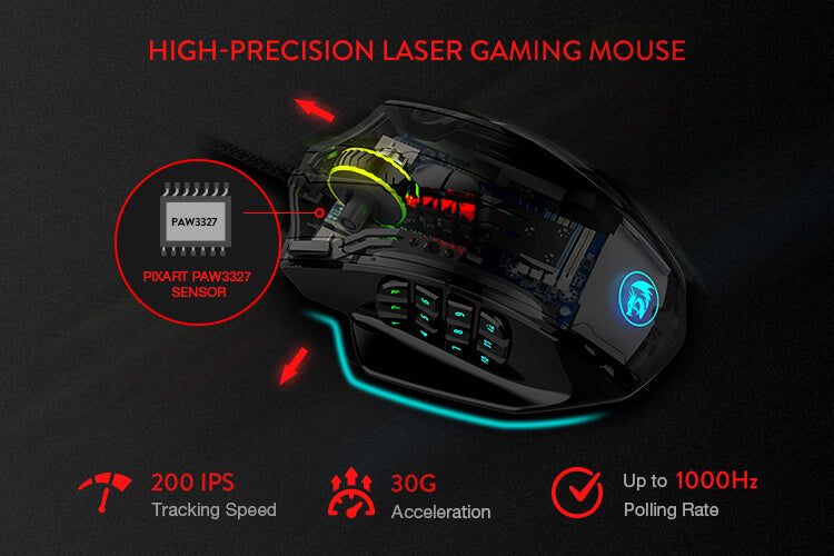 redragon open-box m908 gaming mouse