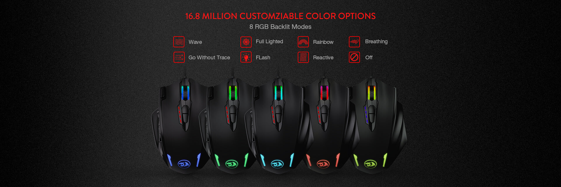 redragon m908 gaming mouse
