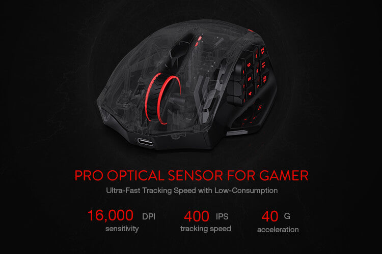 redragon m913 mmo mouse for fps