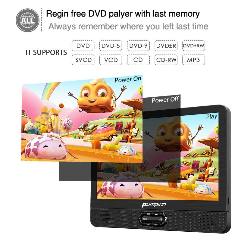 portable dvd player dual screen