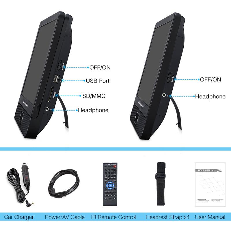 rca dual screen portable dvd player