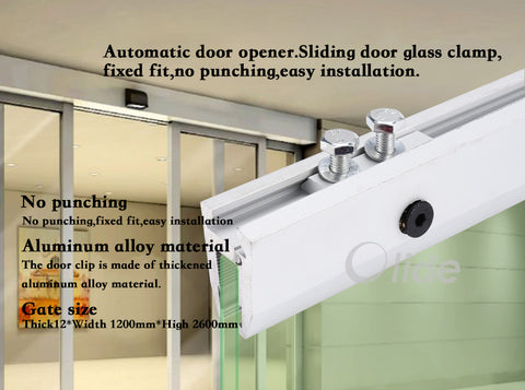 Aluminium Alloy Long Glass Clamp For Automatic Door,Glass Hunger With Holes