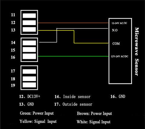 wiring diagram for sliding door opener and microwave sensor