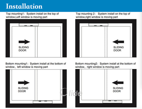 automatic sliding door opener for home use installation