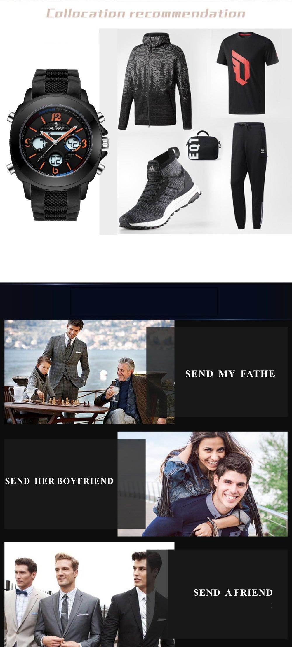 wrist watch digital and analog
