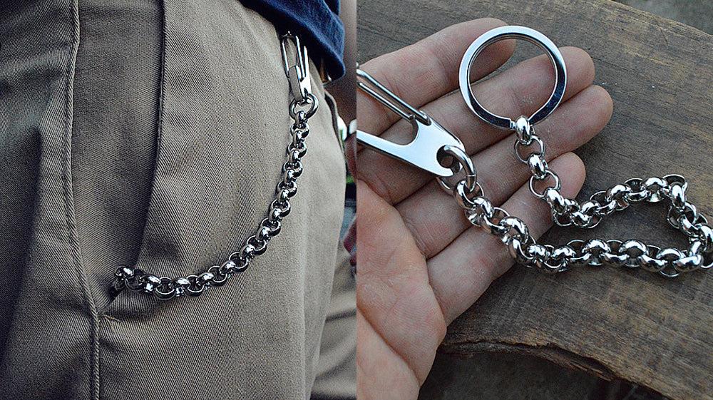 Biker Wallet Chain, Stainless Steel Biker Wallet Chain, Silver Biker Wallet Chain, Biker Chain, Biker Chain Keyting,Jean Chains,