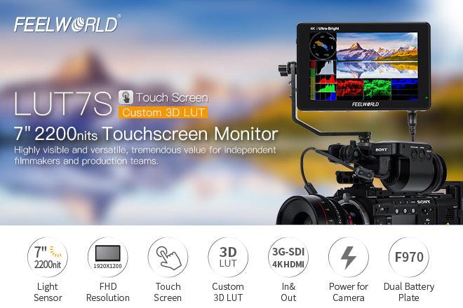 Monitor de campo com câmera de tela de 7 polegadas