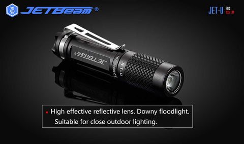 JETBeam JET-U 135 Lumen Battery Powered Micro Key Chain Flashlight Hard Light Mini Flashlight