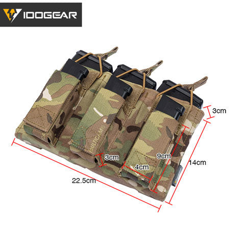 IDOGEAR Triple Double Decker Taco Magazine Pouch Shingle