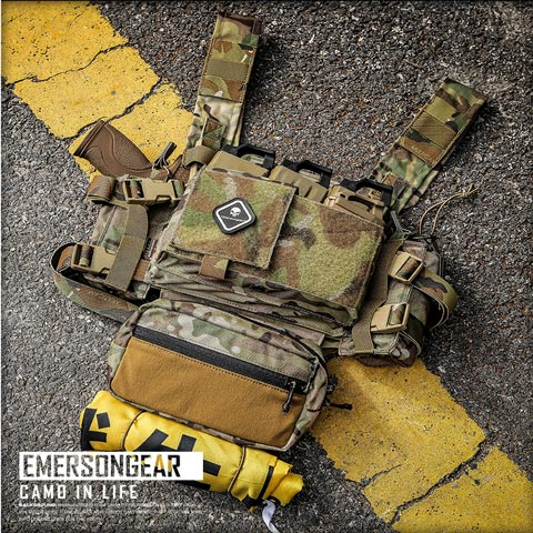 Emerson MK3 Tactical Chest Rig Micro Fight adjustable expandable Plate Carrier airsoft gear EM2961