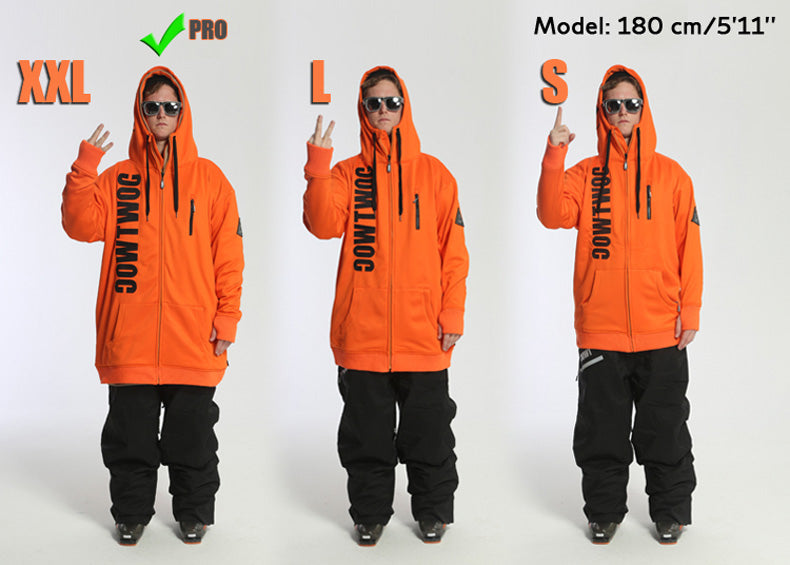 TWOC Unisex Slope Style Oversize Snow Hoodie - Snowverb