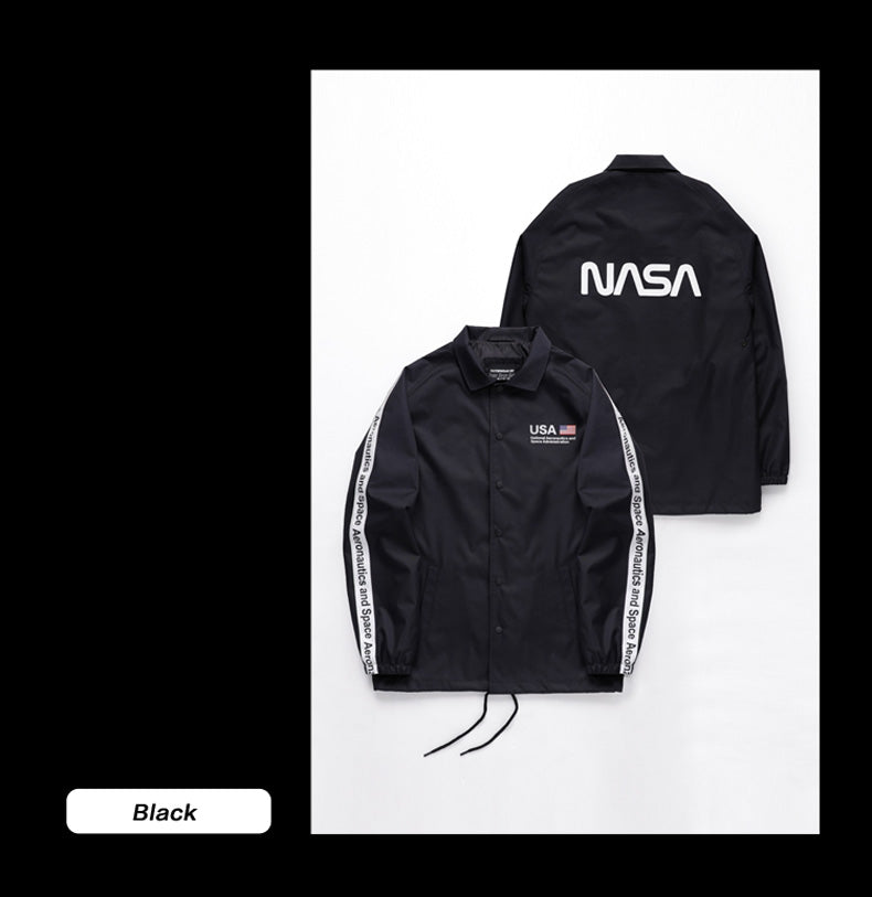 Nobaday Nasa Space Snowboard Coach Jacket