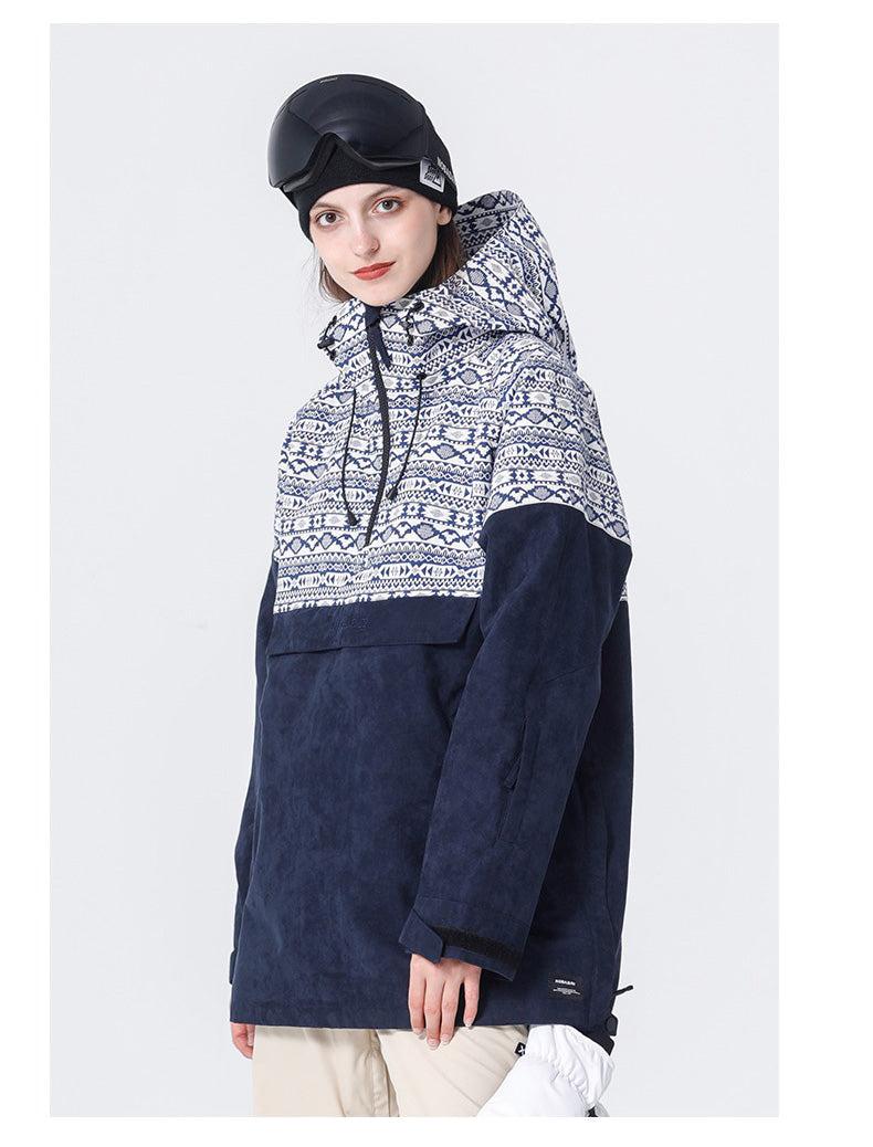 Nobaday Suede Waterproof Anorak Snowboard Jacket