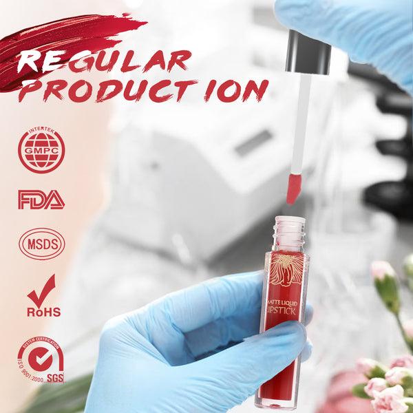 Coffret cadeau de rouge à lèvres liquide velours mat 6 couleurs, imperméable et durable, haute pigmentation