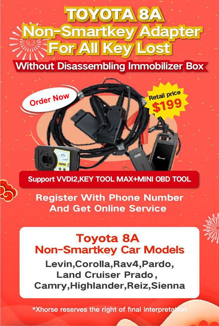 Xhorse VVDI Toyota 8A Non-Smart Key All Keys Lost Adapter