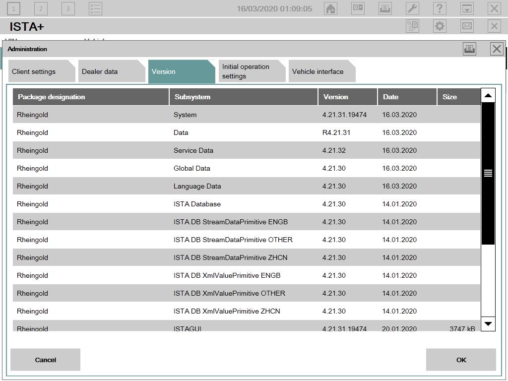 BMW software: ISTA-D 4.21.31, ISTA-P 3.67.0.000