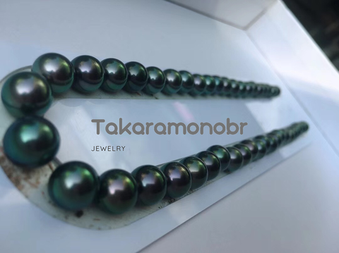 tahitian black peacock pearl necklace