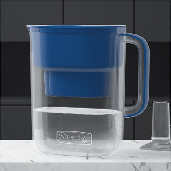 water filter pitcher blue