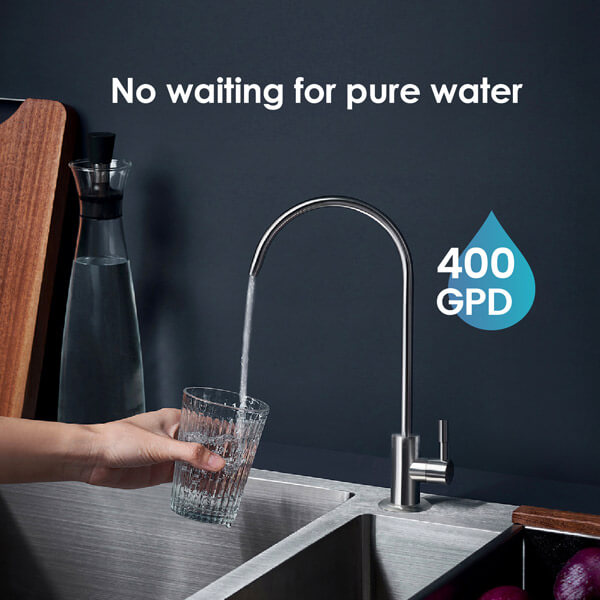 No waiting for pure water