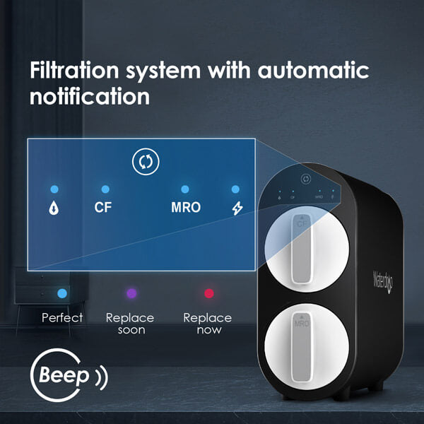 Filtration system with automatic notification
