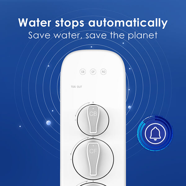 Water stops automatically