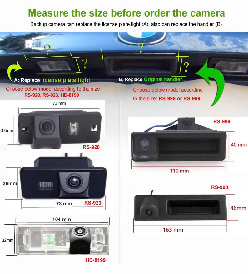 how to choose backup camera