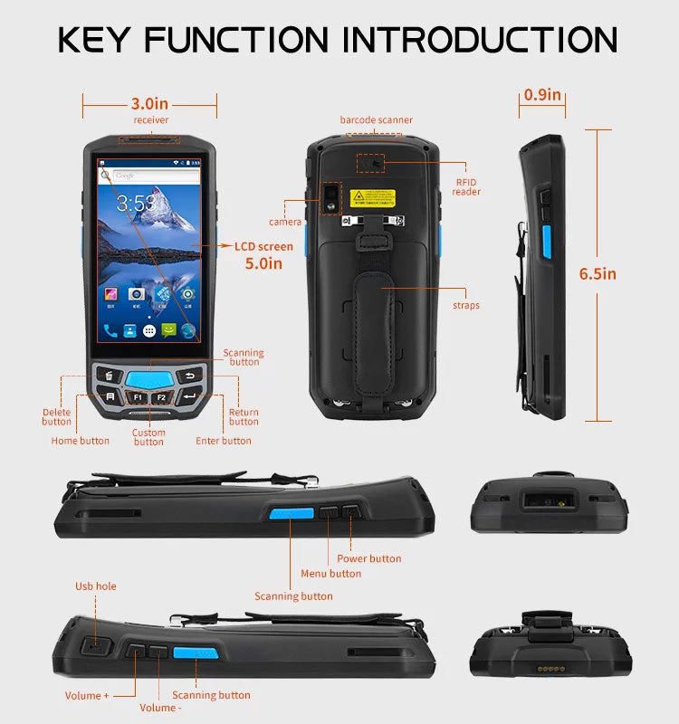 Android Handheld Barcode Scanner PDA
