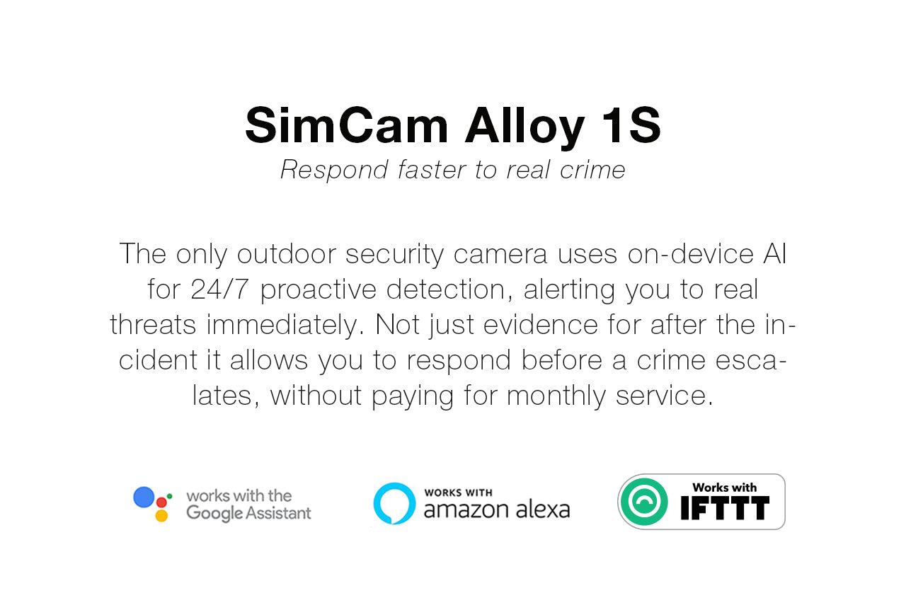 SimCam Alloy 1S outdoor security camera