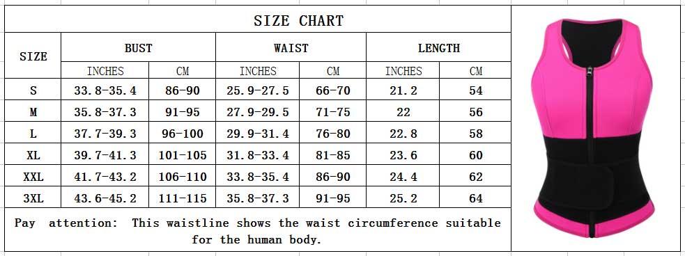 FeelinGirl Best Neoprene Vest For Weight Loss Plus Size Shapewear With Zipper