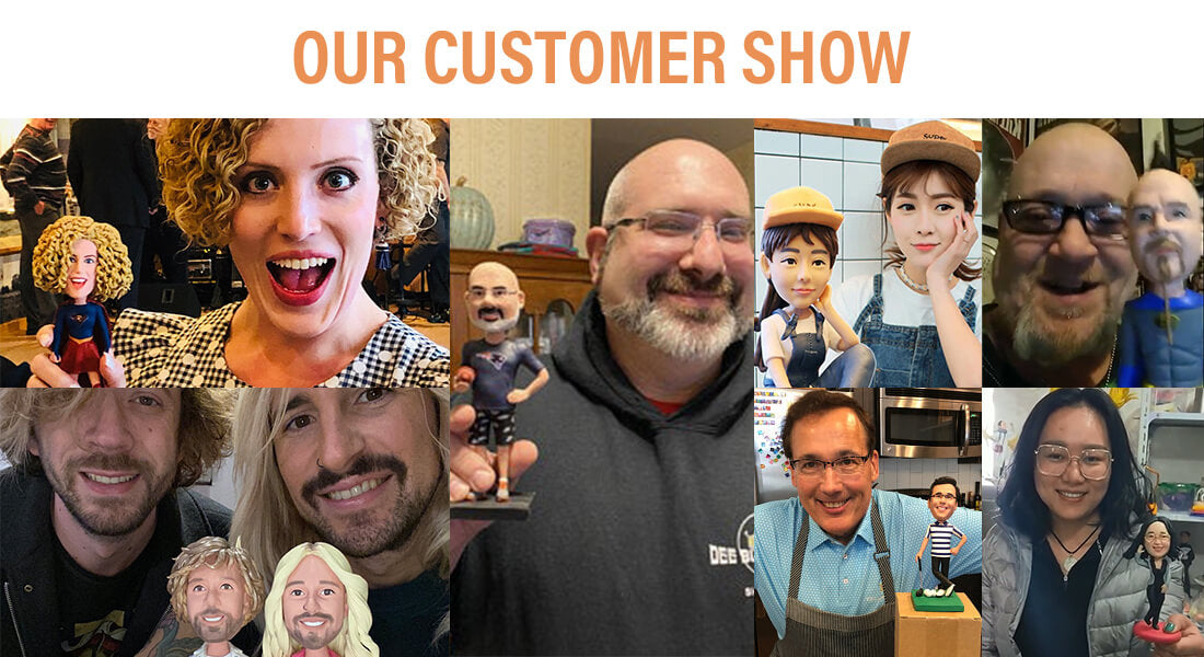 Bobblehead customer presentation picture