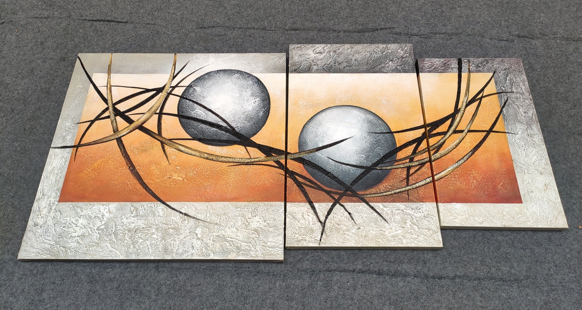Buy Painting Online, Acrylic Painting, 3 Piece Canvas Painting, Contemporary Art for Sale