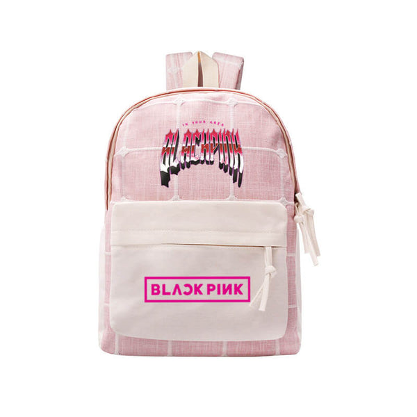 BLACKPINK College Style Canvas Backpack