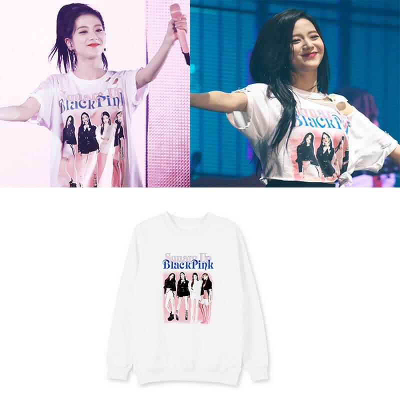BLACKPINK Concert JISOO Same Style Loose Sweatshirt - partypartygo