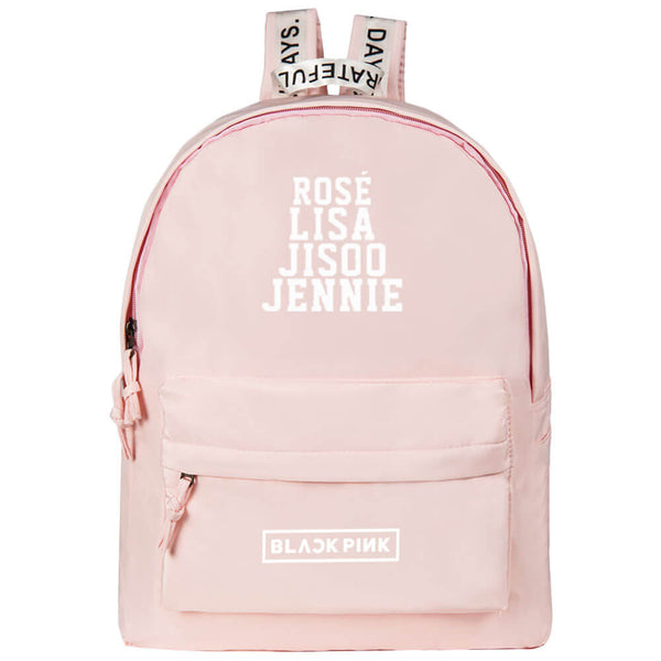 BLACKPINK Korean Pink Student Canvas Backpack
