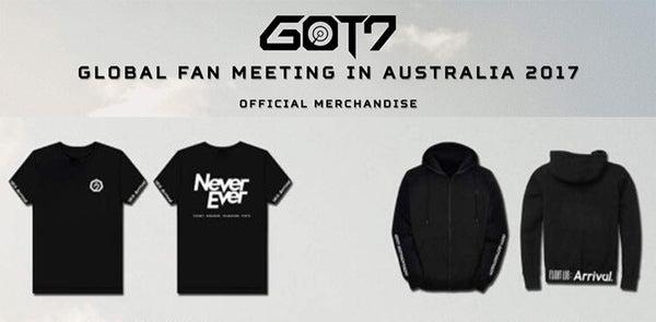 GOT7 FM 2017 Concert NEVER EVER Letter Printed T-shirt