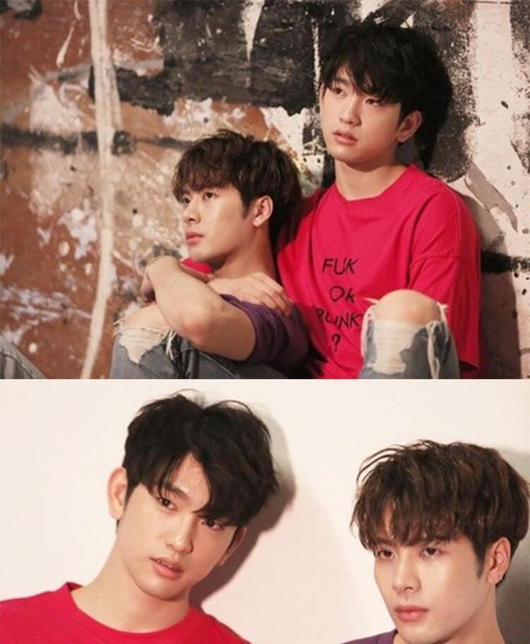 GOT7 Jinyoung Jackson Same Letter Printed T-shirt
