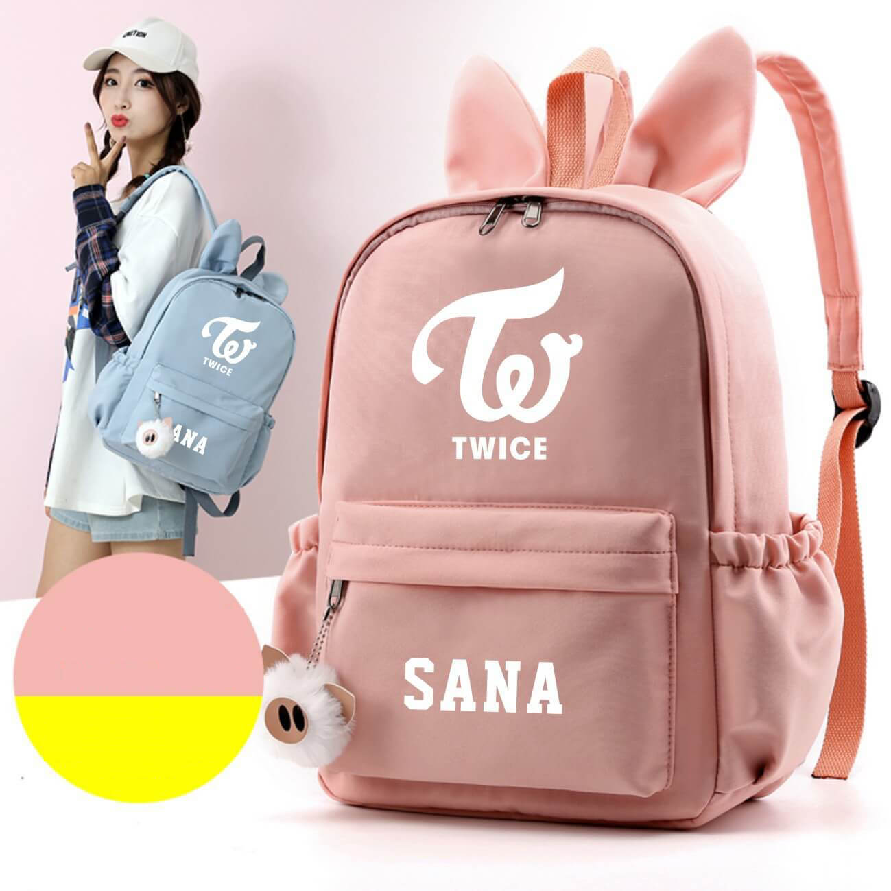 TWICE Cute Design Rabbit Ears Korean Backpack