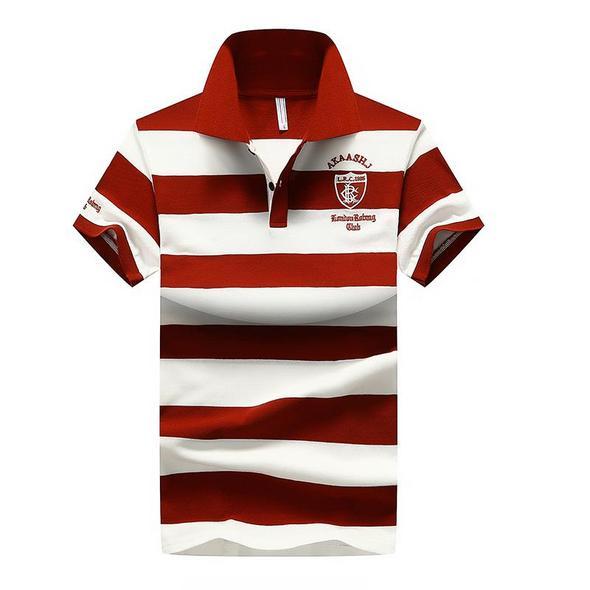 Men's POLO Shirt Fashion Striped Short Sleeve T-Shirt