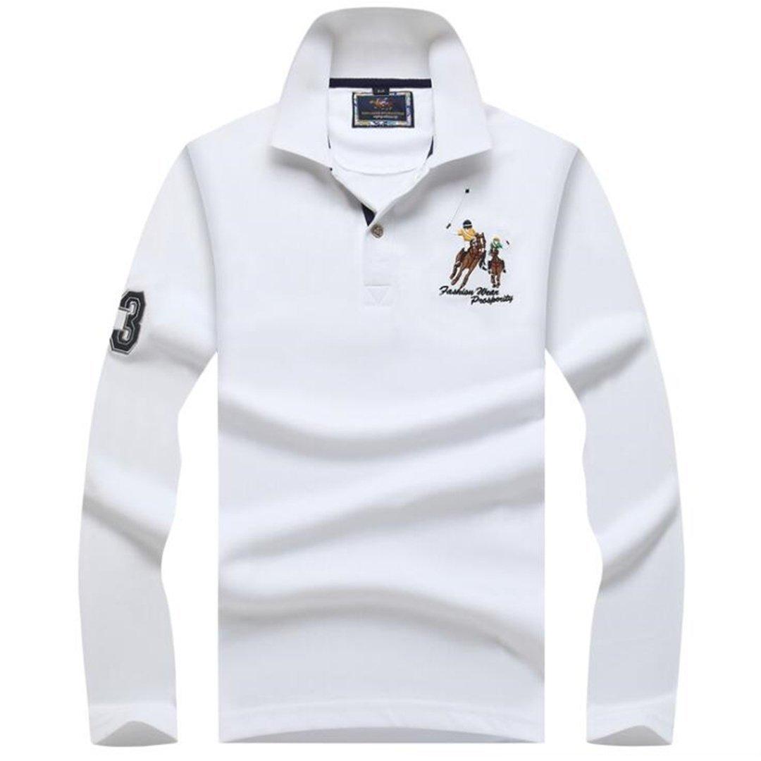 Big Pony Men's Long Sleeve Polo Shirts