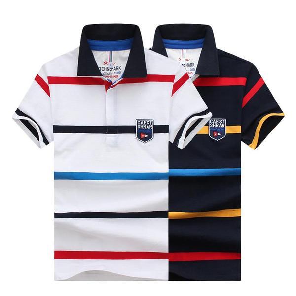 Men's Large Size Cotton Slim Polo Shirt