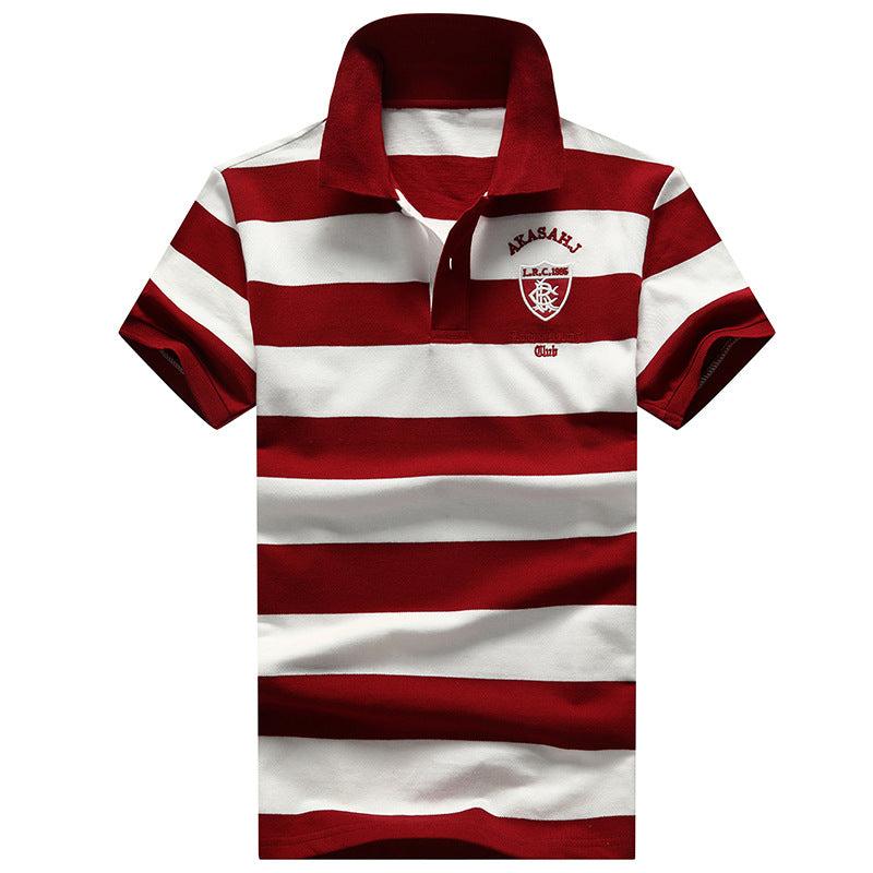 Men's stripe Short-Sleeve Polo Shirts