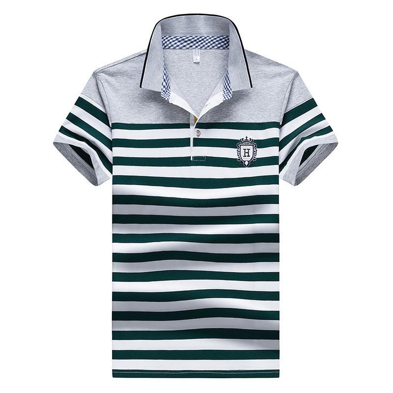 Men's Stripe Fit Short-Sleeve Shirt
