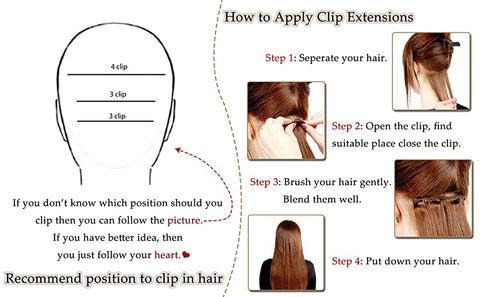highlight clip in hair