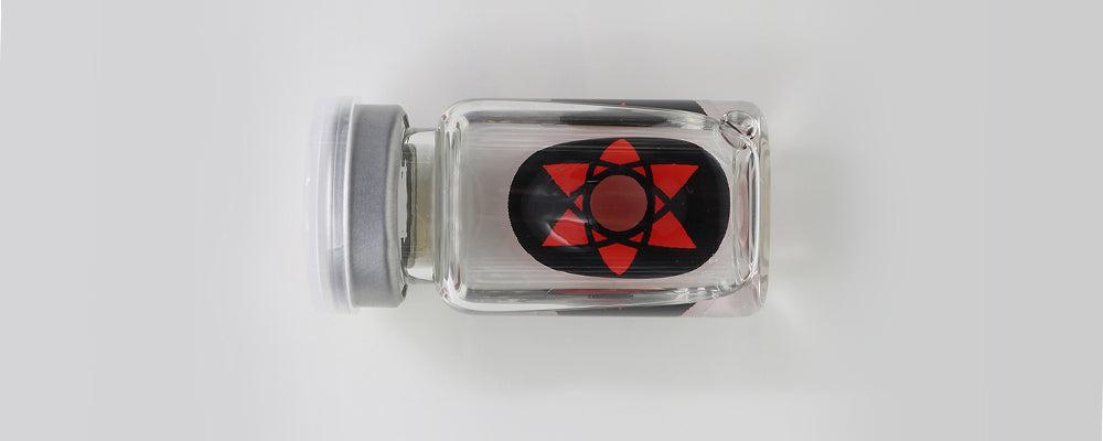 Sasuke Mangekyou Sharingan - Naruto Sclera Lenses 22mm sclera contact lenses which entirely cover the sclera and iris