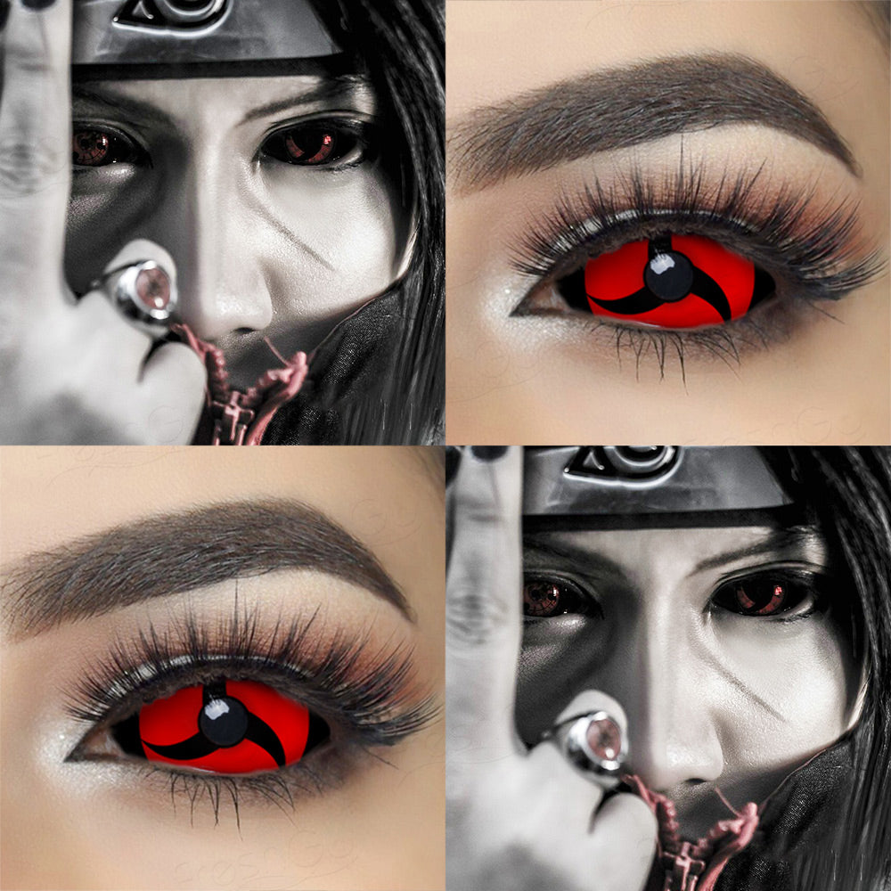 22mm sclera contact lenses which entirely cover the sclera and iris