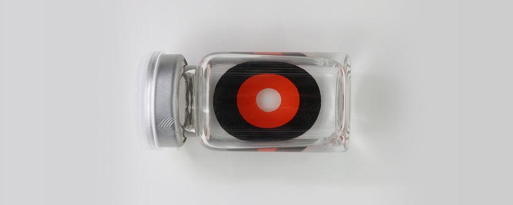 Orange Ghoul black and orange 22mm sclera contact lenses