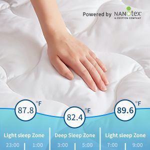 SleepZone,Summer,NanoTechnology,SleepCooler,Bedding,MattressPad,MattressCover