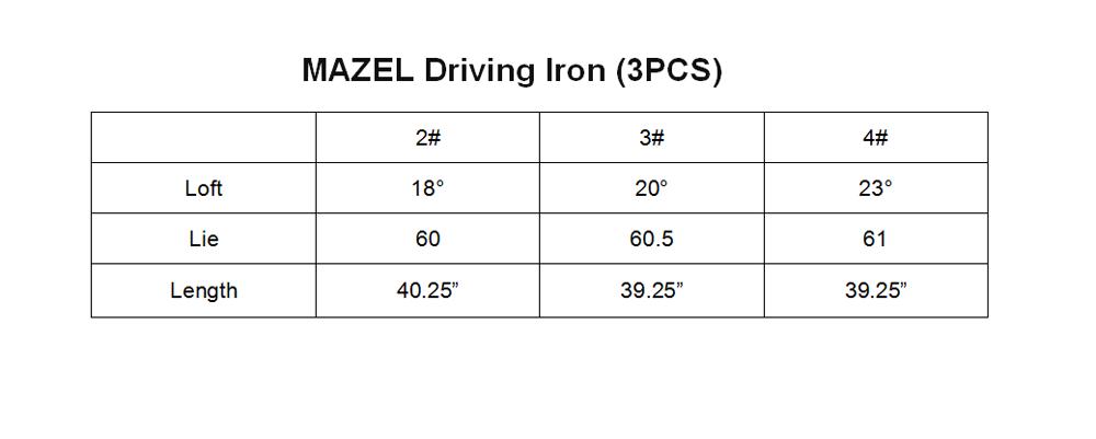 MAZEL Golf Clubs Iron Set for Men & Women Driving Iron (3PCS) 2 3 4 -001