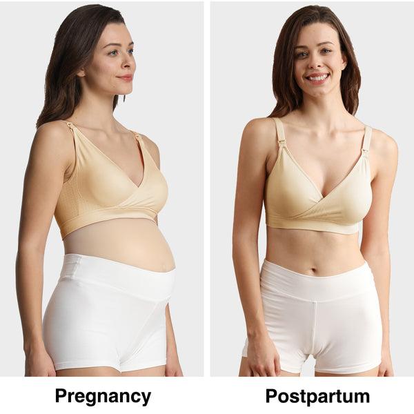 iloveSIA Women's V Neck Nursing Bra Seamless Maternity Breastfeeding Bra Pack of 3 picture