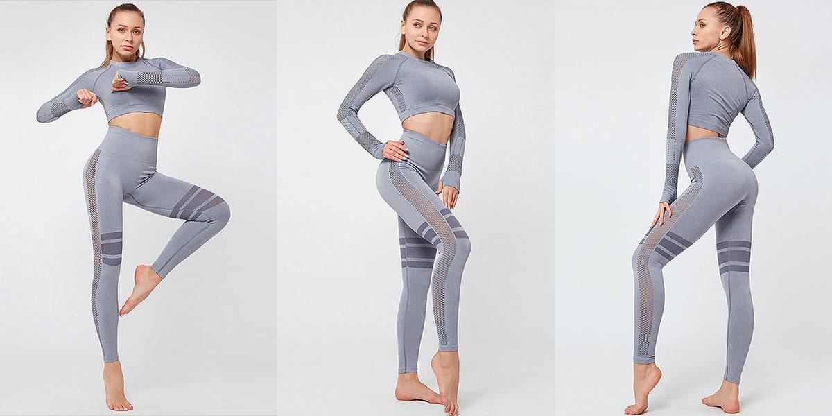 Seamless Yoga Tops and Pants Sets